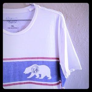 Lucky Brand XL single stitch California bear shirt